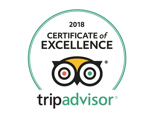 Bilderesultat for certificate of excellence tripadvisor 2018
